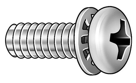 "#10-32 x 3/4"" Pan Head Phillips Machine Screw,  100 pk."