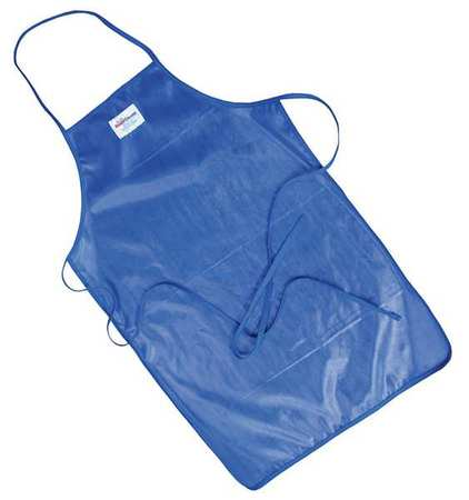 Bib Apron, Blue, 42 In. L, 24 In. W