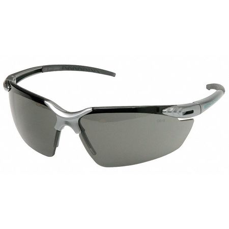 Body Glove Gray Safety Glasses,  Scratch-Resistant,  Half-Frame