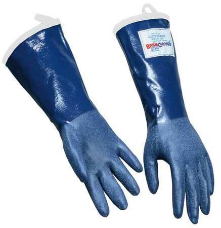 Steam Resistant Gloves, Blue,  L, Rubber, PR