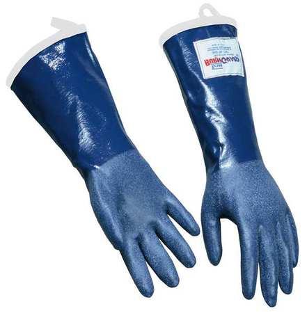 Steam Resist Gloves, Blue,  XL, Rubber, PR