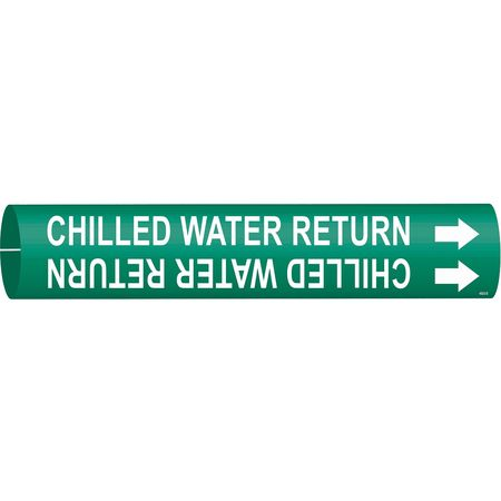 Pipe Marker, Chilled Water Return, 4to6 In