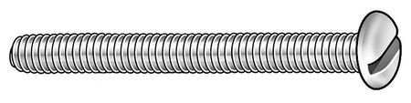 M2.5-0.45 x 10 mm. Pan Head Slotted Machine Screw,  50 pk.