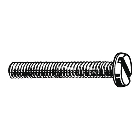 M4-0.7 x 40 mm. Pan Head Slotted Machine Screw,  100 pk.