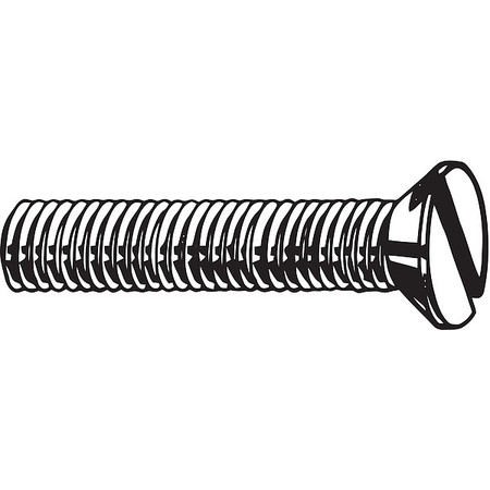 M6-1.0 x 20 mm. Flat Head Slotted Machine Screw,  100 pk.