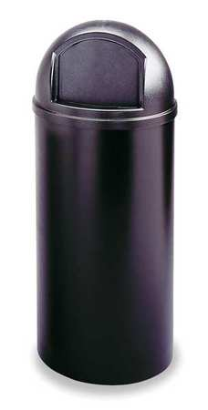 15 gal. Black Plastic Round Marshal Classic Trash Can
