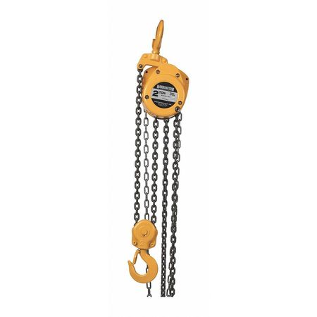Manual Chain Hoist, 4000 lb., Lift 20 ft.