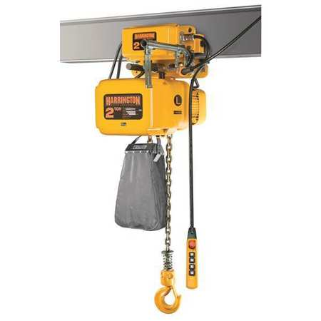 Electric Chain Hoist w/Trolley, 4000 lb.