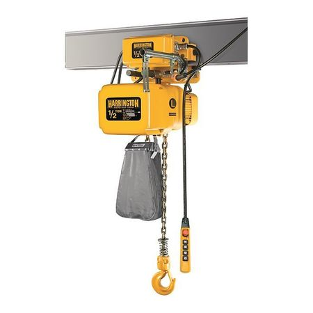 Electric Chain Hoist w/Trolley, 1000 lb.