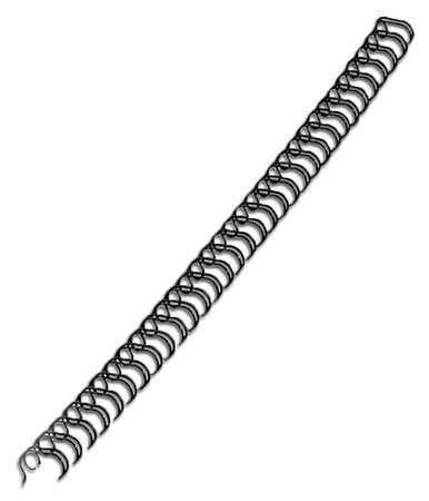 Binding Spines, Wire, 3/8in, Black, PK100