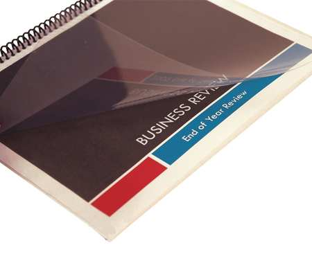Binding Covers, Plastic, Clear, PK100