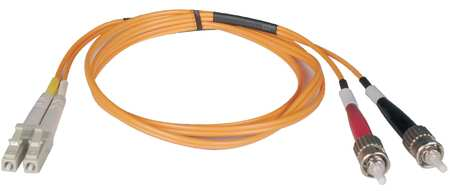 Fiber Optic Patch Cord, LC/ST, 3m, Multi