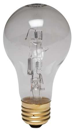Halogen Light Bulb, A19, 72W, PK2