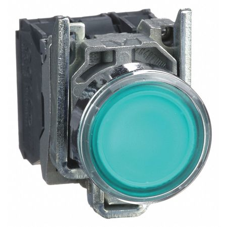 Illuminated Push Button, 22mm, Green