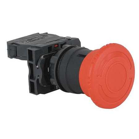 Emergency Stop Push Button, Plastic, Red
