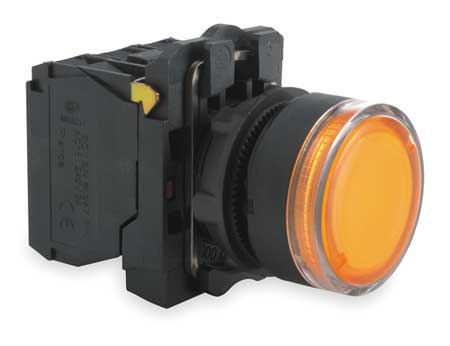 Illuminated Push Button, 22mm, Orange