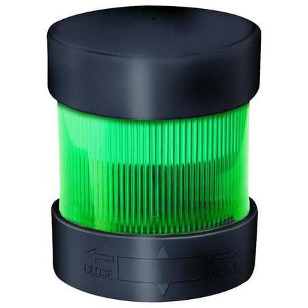 Tower Light, Flashing, 24to48VDC, 70mm, Grn