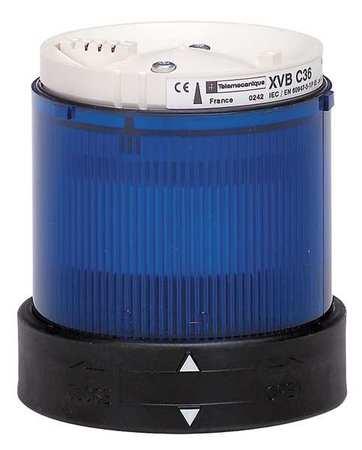 Tower Light, Flashing, 48to240V, 70mm, Blu