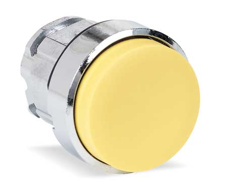 Pushbutton, 22mm, YLW, Momentary, Extended
