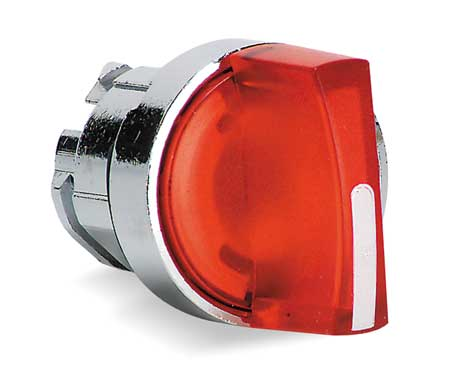 Illum Selector Switch, 2 Pos, 22mm, Red