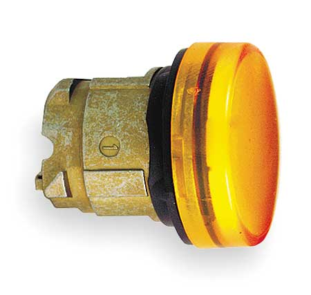 Pilot Light Head, Yellow, 22mm