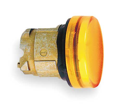 Pilot Light Head, Yellow, LED