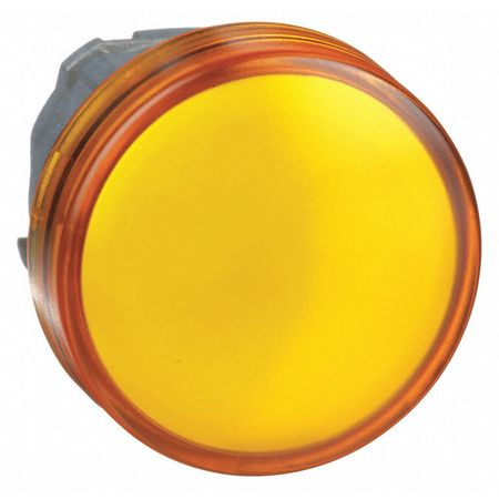 Pilot Light Head, Yellow, LED