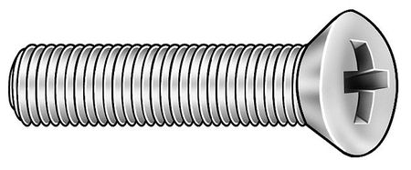 M2.5-0.45 x 8 mm. Oval Head Phillips Machine Screw,  100 pk.