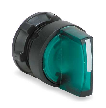 Illum Selector Switch, 3 Pos, 22mm, Green