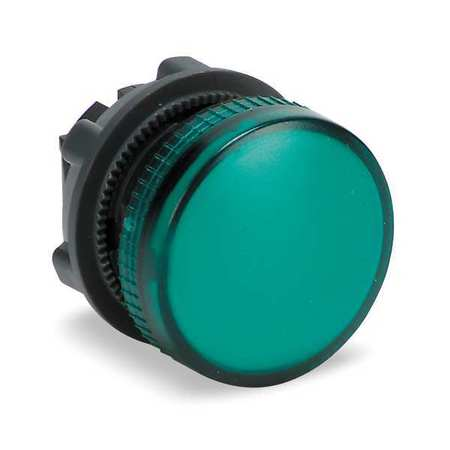 Pilot Light Head, Green, 22mm