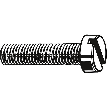 M8-1.25 x 25 mm. Cheese Head Slotted Machine Screw,  25 pk.