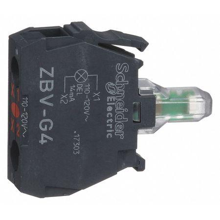 Lamp Module, 22mm, 120VAC, Red, LED