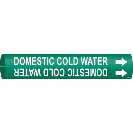 Pipe Marker, Domestic Cold Water, Green