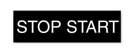 Legend Plate, Rectangular, Stop-Start