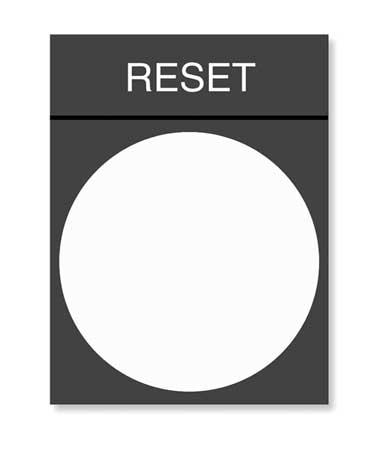 Legend Plate, Reset, White/Black