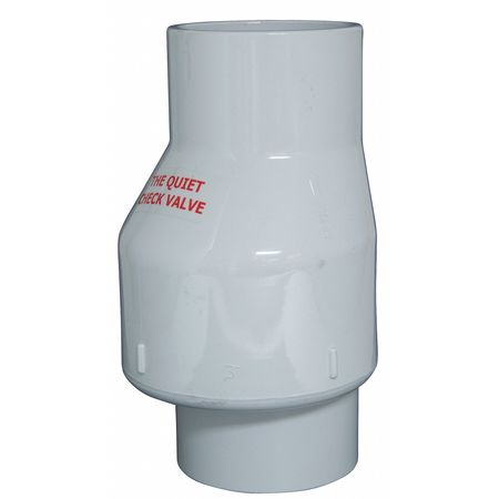Full Flow Check Valve, PVC, 3 In.