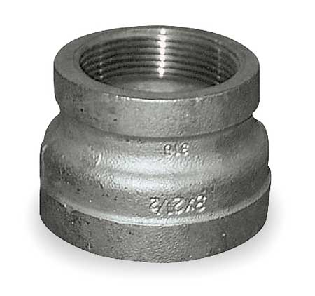 "1"" x 3/4"" FNPT SS Reducing Coupling"