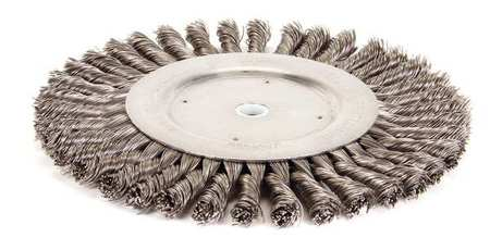 Twist Wire Wheel Wire Brush,  Arbor,  8""
