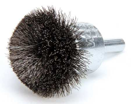 Flared End Wire Brush,  Carbon Steel,  1-1/2""