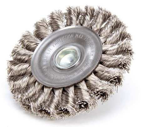 Knot Wire Wheel Wire Brush,  Stem,  3-1/4""