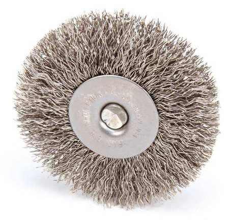 RaDial Crimped Wire Wheel Wire Brush,  Stem