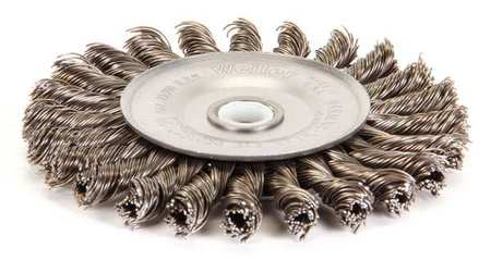 Twist Wire Wheel Wire Brush,  Arbor