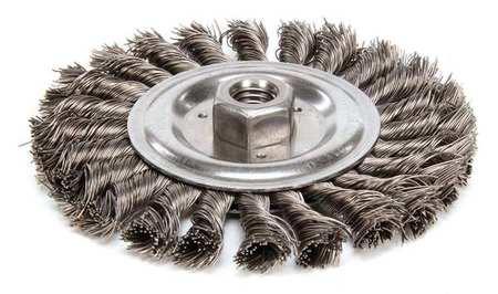 Twist Wire Wheel Wire Brush,  Threaded Arbor