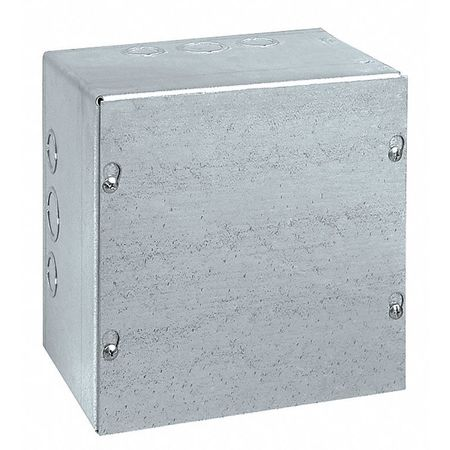 Junc Box Enclsr, Mtlic, 8In.Hx 8In.Wx4In.D