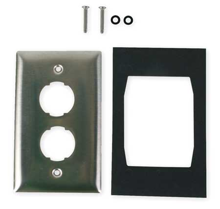 Wall Plate, 2port, 1gang
