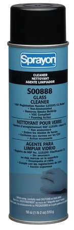 Glass Cleaner, 18 oz., White