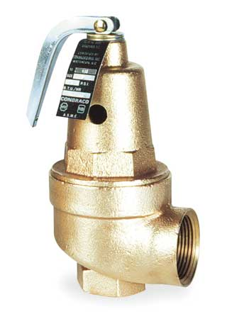 Safety Relief Valve, 1-1/4In, 75psi, Bronze