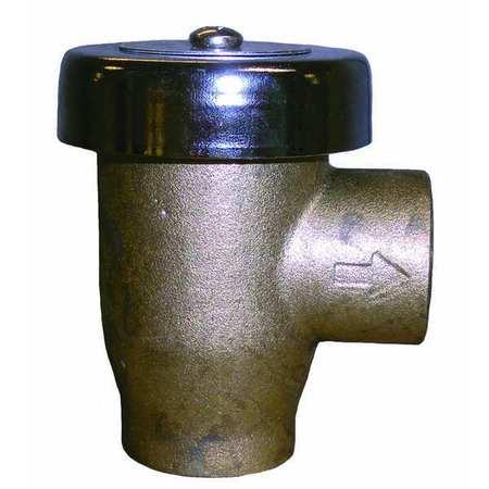 Vacuum Breaker, 3/4 In, FNPT, Brass, 125 psi