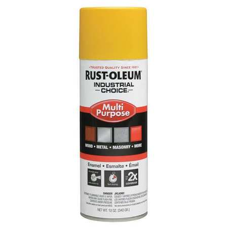 Spray Paint, OSHA Safety Yellow, 12 oz.
