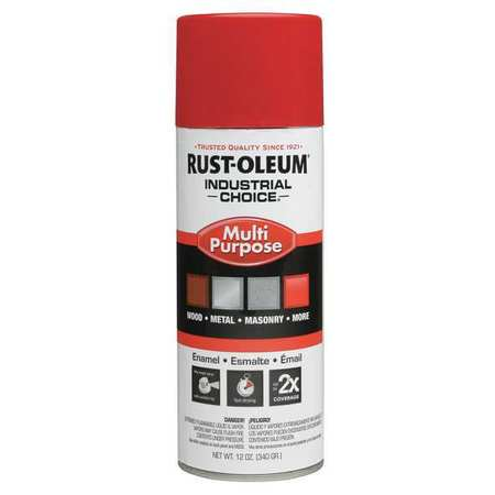 Spray Paint, OSHA Safety Red, 12 oz.